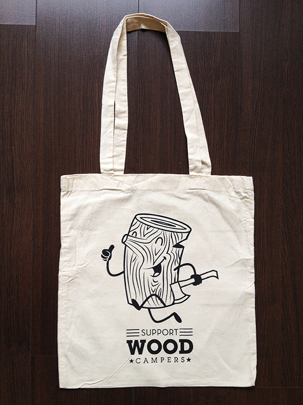 WOOD CAMPERS TOTE BAGS