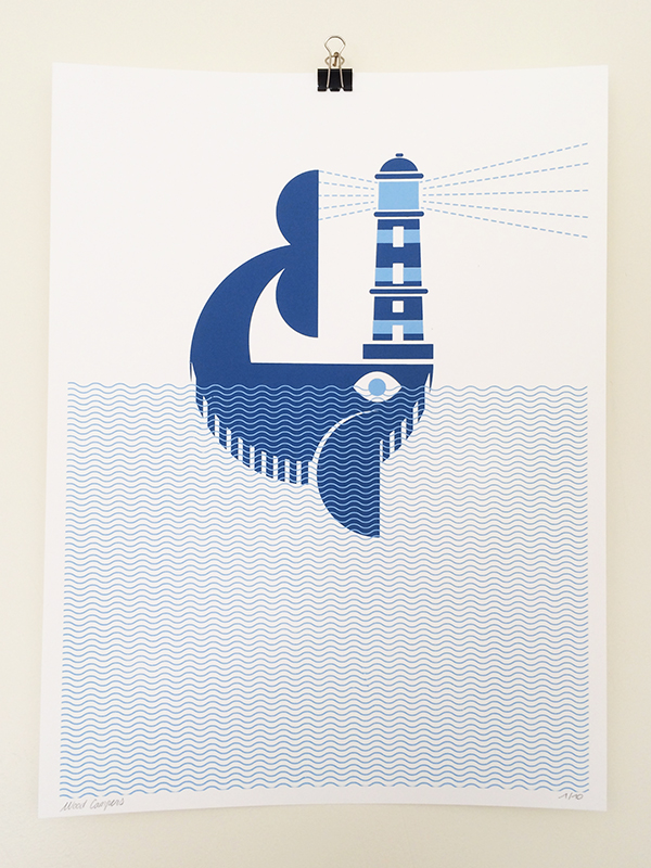 WHALES & LIGHTHOUSE