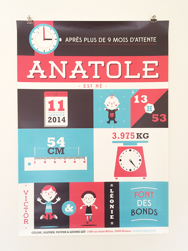 FAIRE-PART ANATOLE