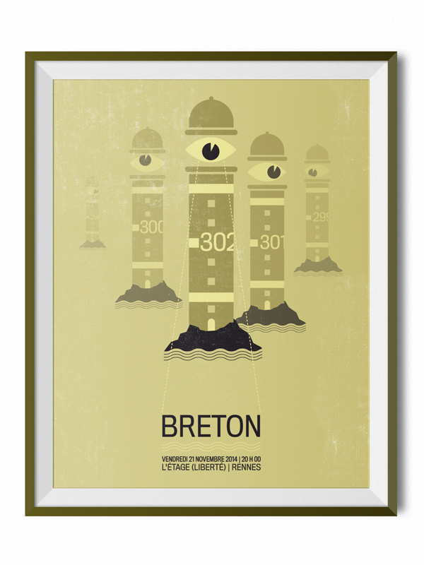 BRETON GIG POSTER