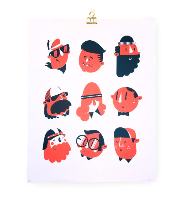 9 heads poster