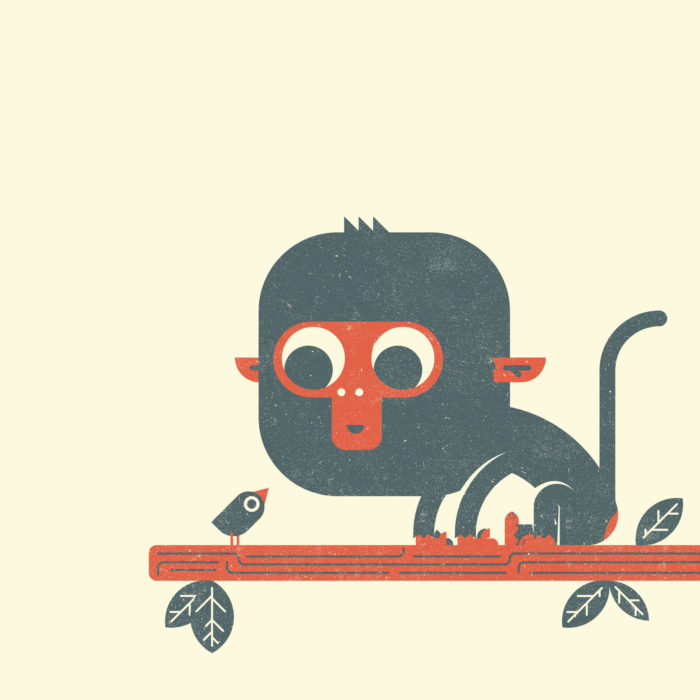 1.Monkey-the-jungle-illustration-wood-campers